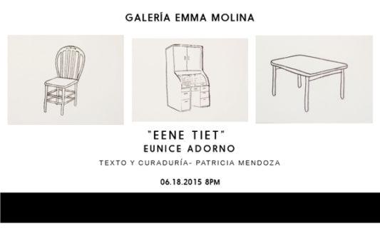 """""""EENE TIET""""  Galería EMMA MOLINA"""