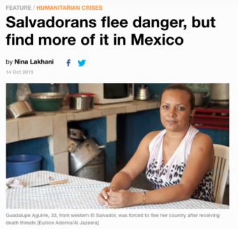 Salvadorans flee danger, but find more of it in Mexico